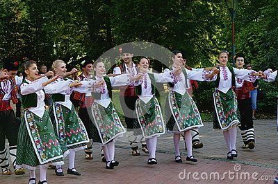 Traditionally, Vsetin folklore festival was interested in the appearance of foreign ensembles, which at first sight attracted attention to the originality of costumes. Vsetin, Moravia, Czech Republic