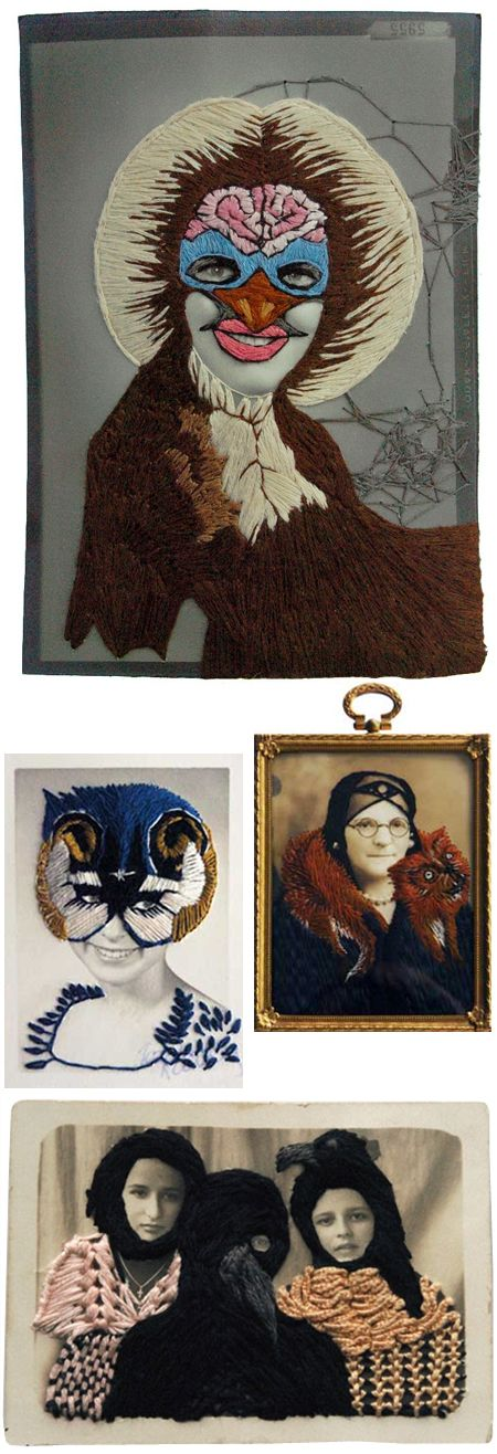 'Stacey Page'  Stacey Page did embroidery and embellishment photography, were she got photographs she's taken and used a needle and embroidery thread to stitch patterns on the image. The materials she used was sequins, button, ribbons e.t.c. I don't really like stitching onto image but I believe this is really effective.