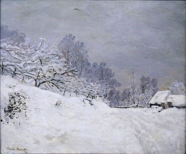 (via All sizes | 1867 Claude Monet Strada di fronte alla fattoria S.Simeon,inverno(d'Orsay) | Flickr - Photo Sharing!)
