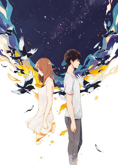 宝島社『カササギの計略』(著:才羽 楽) 装画 I drew the cover illustration for the novel by Raku Saiba, published by Takarajima publishing.