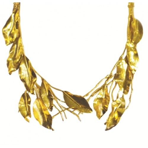 """""""Nature obsession becomes fine jewellery"""" Necklace:  silver gold plated, created using real branches & leaves"""