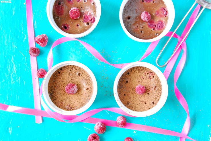 Chocolate-raspberry pudding