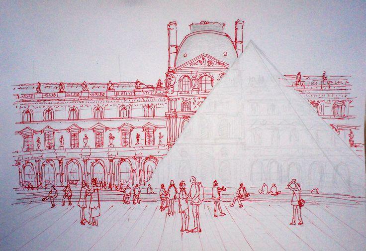 Le Musée du Louvre DSC04023 Architecture drawing
