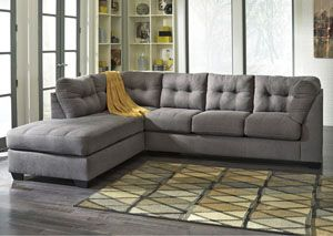 Maier Charcoal Left Arm Facing Chaise End Sectional, /category/living-room/maier-charcoal-left-arm-facing-chaise-end-sectional.html