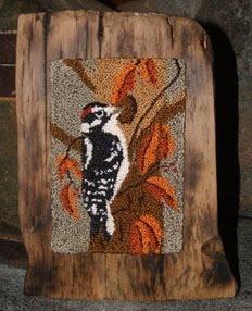 Downy Woodpecker Punchneedle Pattern