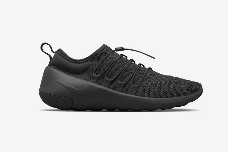 Découvrez la Nike Lunarcharge Essential Triple Black (100% noir) reprenant  les caractéristiques de 5 modèles : Air Max 90, Air Presto, Flow.
