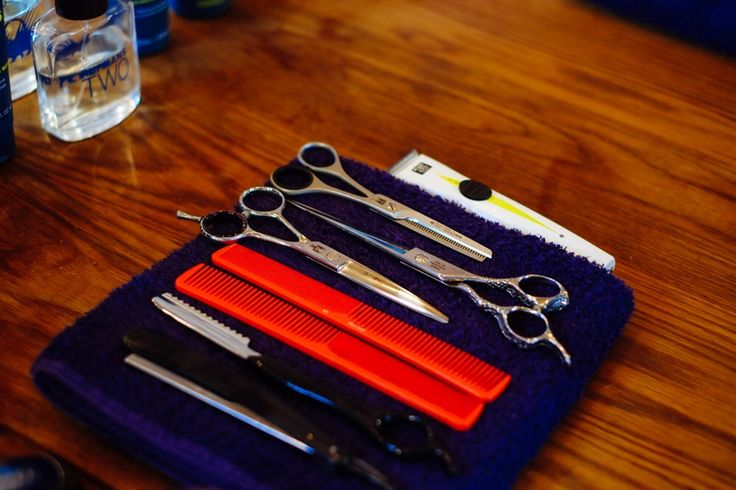 Barbers tools at Ruffians Covent Garden