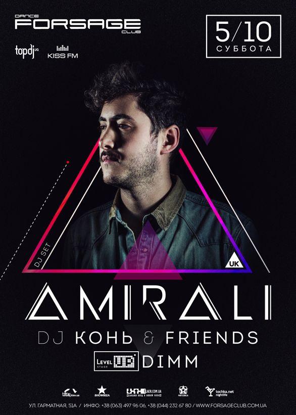 Dj Amirali party poster design