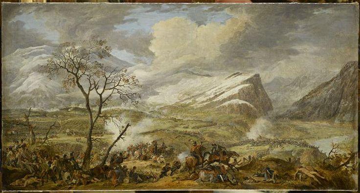 d'Albe Louis Albert Guislain Bacler Bataille de Rivoli le 14 janvier 1797, la déroute des Autrichiens devant Masséna