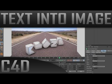 Realistic text into image/photo Cinema 4D Tutorial