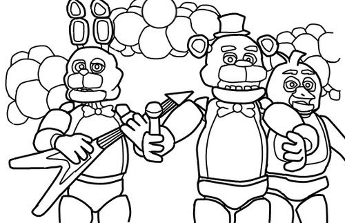 fnaf 3 coloring pages - photo#16