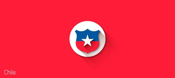 Flat Design Shields from FIFA World Cup 2014. #Chile