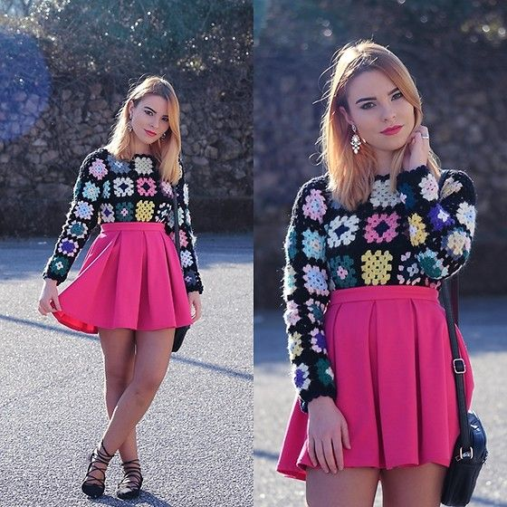 Get this look: http://lb.nu/look/8615001  More looks by Carina Gonçalves: http://lb.nu/carinag  Items in this look:  Handmade Sweater, Primark Skirt, New Chic Ballerinas   #preppy #romantic #vintage #fashion #fashionblogger #blogger #ootd #outfit #outfitoftoday