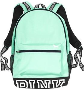 Victoria's Secret PINK Campus Backpack Book-bag Tote Light Mint Green BNWT!                                                                                                                                                                                 More