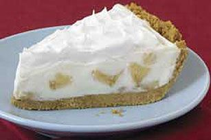 easy banana cream pie using sugar free and instant ingredients for ease/reduced guilt. I would also add a layer of nila wafers in the middle for texture. The layers from the bottom up are: graham cracker crust, bananas, pudding, vanilla wafers, pudding, bananas, pudding, whipped cream