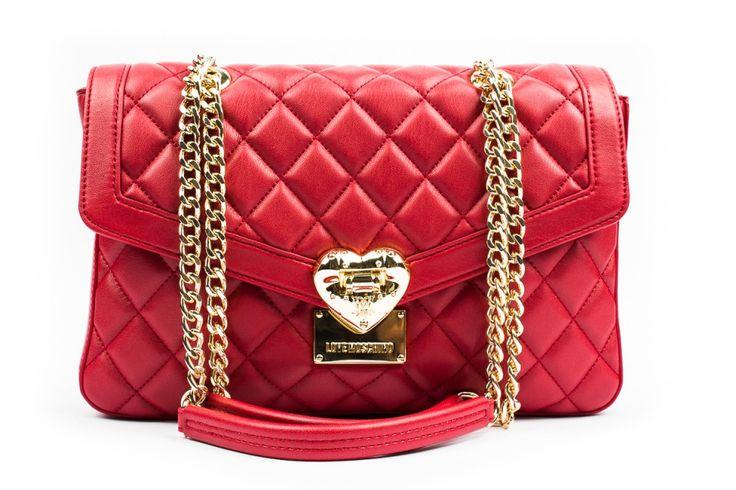 Moschino Love borsa trapuntata rossa immagini