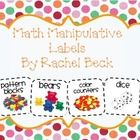 These are the perfect size to attach to your math manipulatives that are stored in tubs.  This makes my math shelf look much nicer and more organiz...