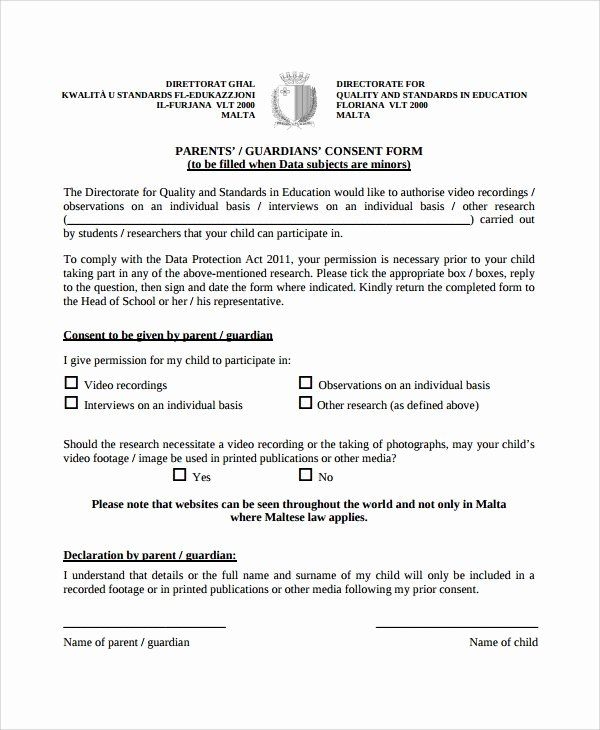 Parents Consent Form Template In 2020 Consent Forms Parental