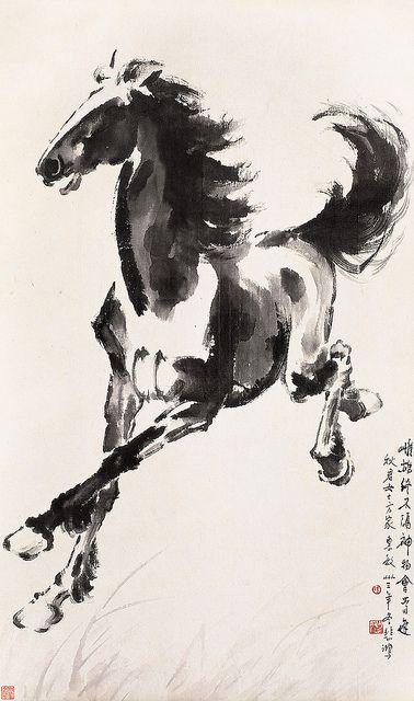 徐悲鸿 奔马 by China Online Museum - Chinese Art Galleries, via Flickr