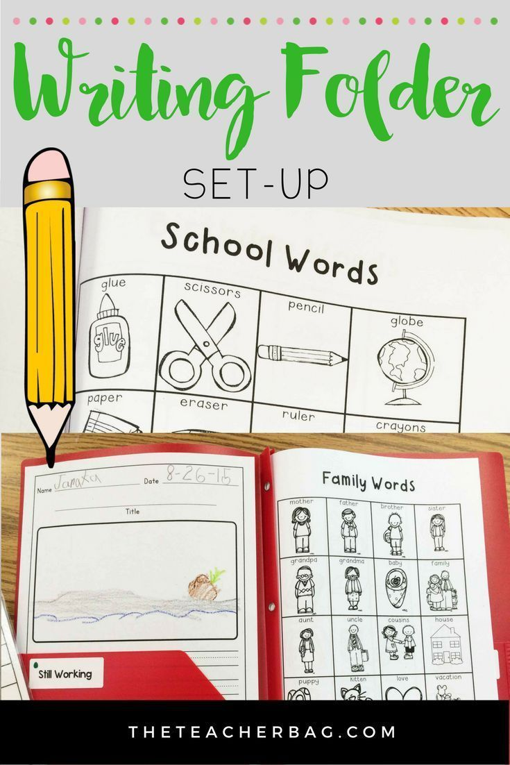 Setting up a writing folder with your students.