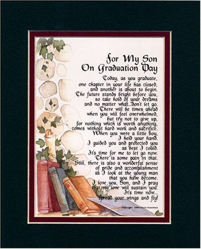 Quot For My Son On Graduation Day Quot Touching 8x10 Poem Double