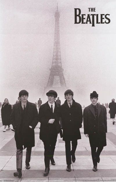 The Beatles take Paris in this great poster of the Fab Four doing a bit of sightseeing down by the Eiffel Tower! Fully licensed - 2013. Ships fast. 22x34 inches. Check out the rest of our Fab selectio