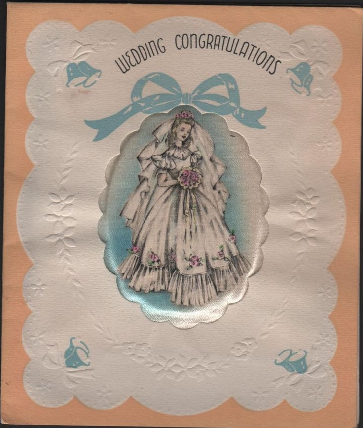 vintage Paramount Wedding Day Greeting Card oval Silk Pillow Bride Lady dress