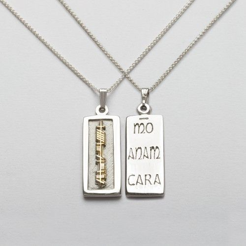 156 best sterling silver images on pinterest arm candies bracelet sterling silver 18k gold ogham mo anam cara my soulmate pendant mozeypictures Gallery