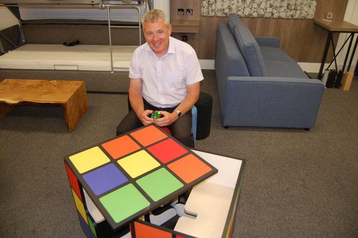 Rubix cube furniture design, created by Top Brass. #Table #Individual #Unusual #School #Design #Interiors #Furniture