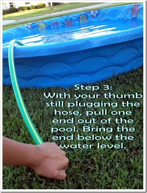 How To Easily Drain A Toddler Pool Kiddie Pool Kid Pool