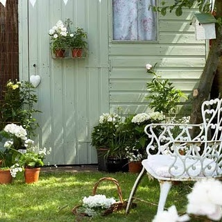 garden shed, love the color of this shed for the house and the shed