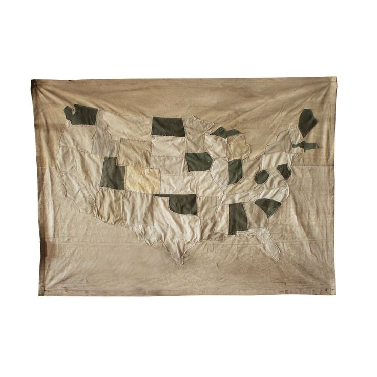 Recycled Canvas USA Map Bring the