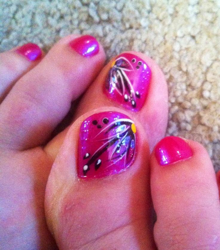 Pink Summer Nail Art