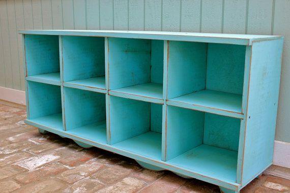 Organization Cubby Bench Storage Furniture by honeystreasures