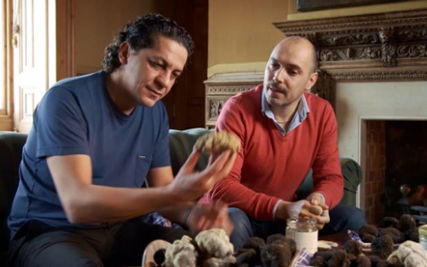 In this exciting video Italian chef Francesco Mazzei searches for the white truffle, thepremium ingredient needed for his speciality beef tagliata