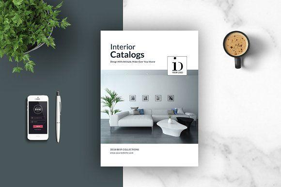 PSD - Interior Brochures / Catalogs by tujuhbenua on @creativemarket