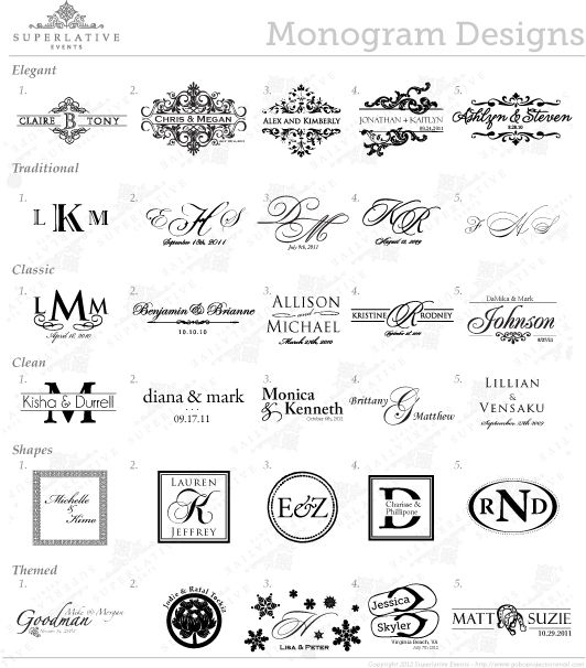 Superlative Events Wedding Monogram Transparency Gobo