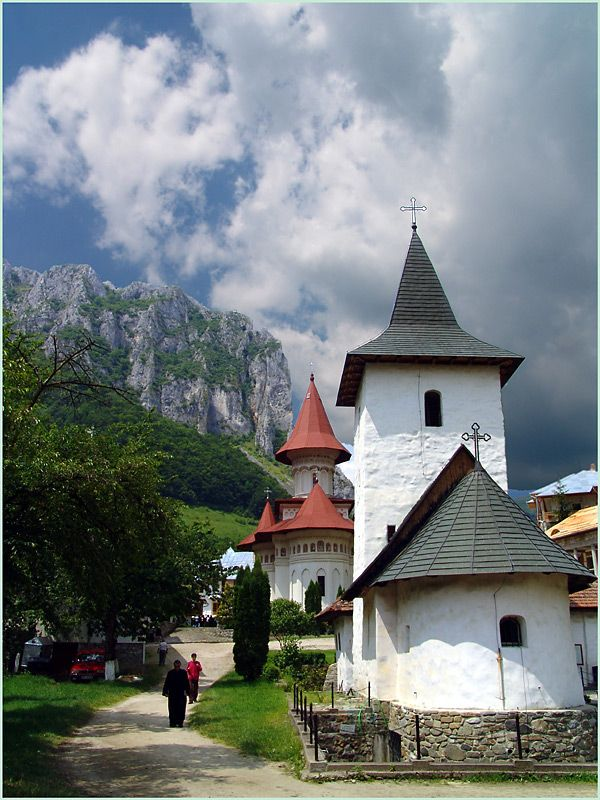 Ramet Monastery is in the Geoagiu Valley , in the mountains of Trascau, about 20 kms away from Teius, a town in the district of Alba, Romania. The landscape surrounding it is of outstanding beauty.