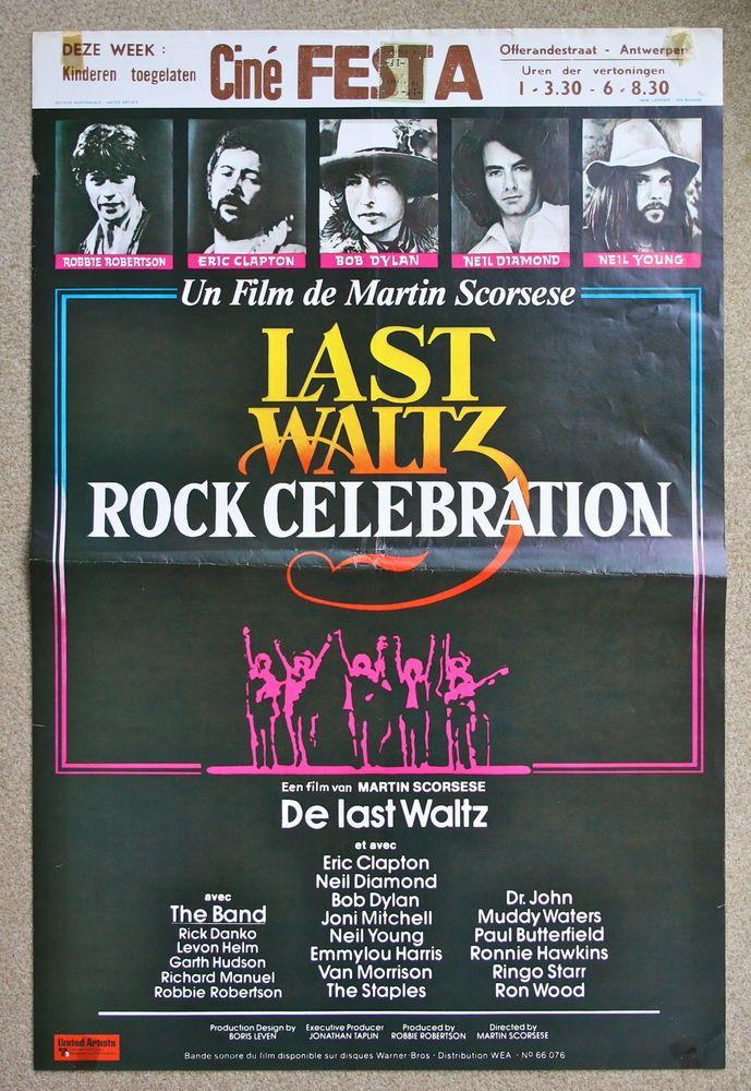 MARTIN SCORSESE The Last Waltz Bob Dylan VINTAGE ORIGINAL