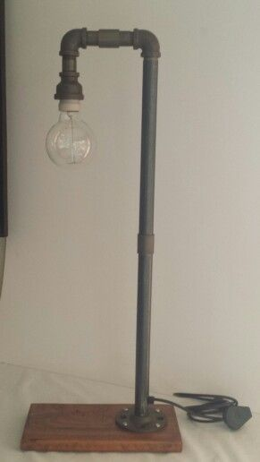 Steampunk plumbing pipe large tall free standing hook lamp