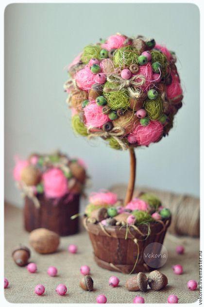 """Топиарии ручной работы. Ярмарка Мастеров - ручная работа Топиарий """"Розовый фрукт"""". Handmade."""