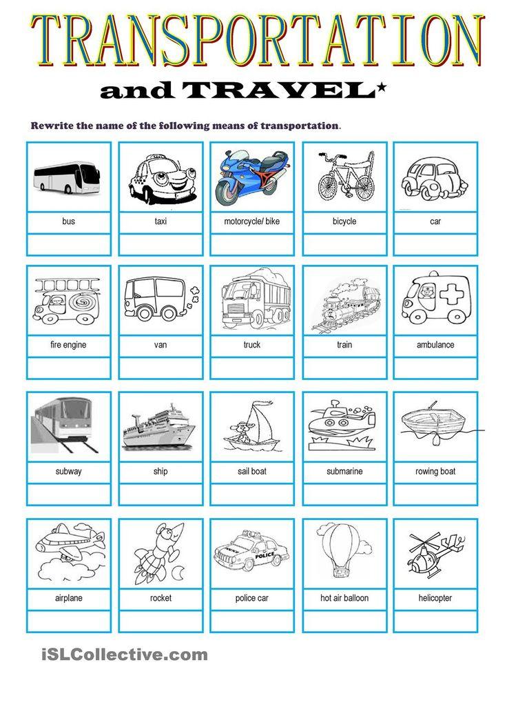 transportation travel vocabulary my english pinterest transportation and english. Black Bedroom Furniture Sets. Home Design Ideas