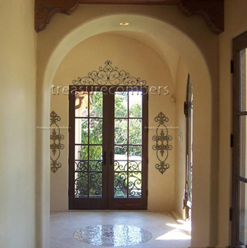 48 Quot Tuscan Wrought Iron Scroll Wall Grille Door Topper