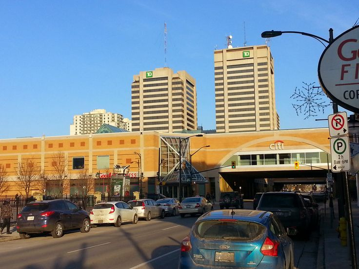 Taken where Citi Plaza in #ldnont covers King St. Also visible is the City Centre Towers (TD Towers).