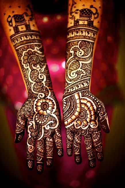 Mehndi is a ceremonial art form which originated in ancient South Asia. Intricate patterns of mehndi are typically applied to brides before wedding ceremonies. The bridegroom is also painted in some parts of India. In Rajasthan, the grooms are given designs that are often as elaborate as those for brides.#mendi #henna #india