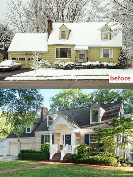 Home Exterior Renovation Before And After best 25+ home exterior makeover ideas only on pinterest | brick