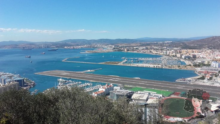 The view from the Upper Rock. You can see here for example a part of a local airport and the stadium! :)  Gibraltar, September 2016. www.mialmaespanola.pl