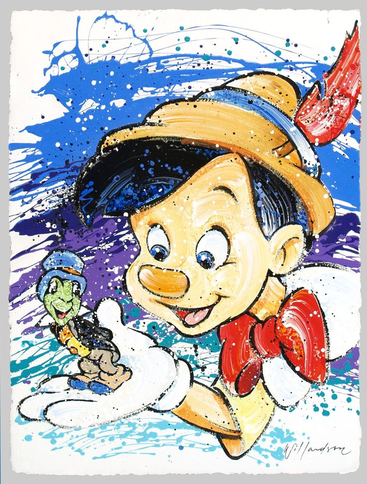 Pinocchio - He's Not Heavy - He's My Conscience - Jiminy Cricket - Original - David Willardson - World-Wide-Art.com - #davidwillardson #disney #pinocchio #jiminycricket