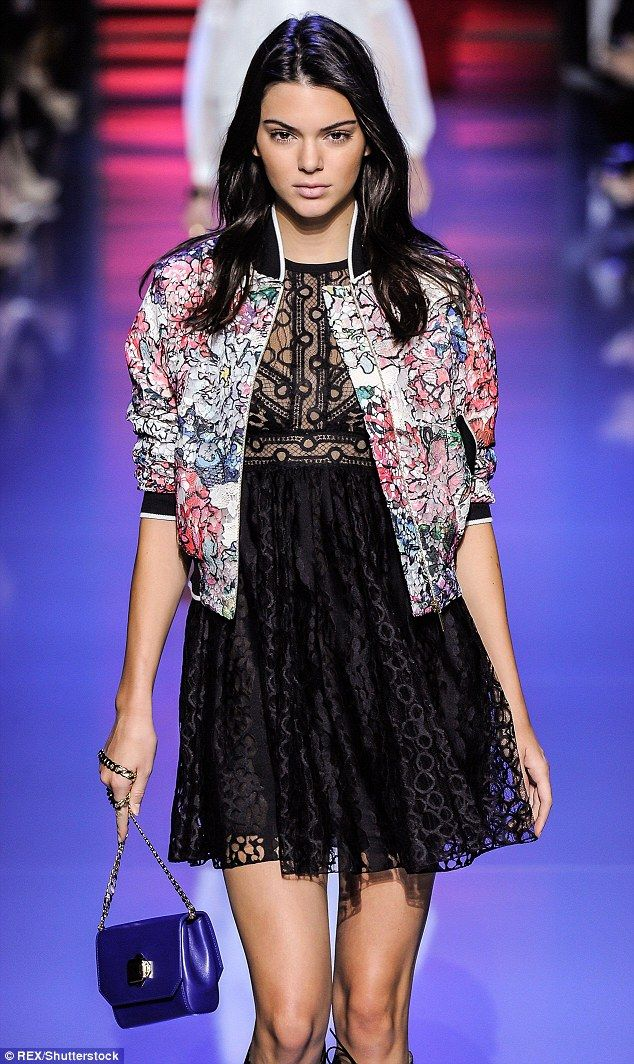Kendall Jenner, 20, pictured walking for Elie Saab during Paris fashion week, missed out o...