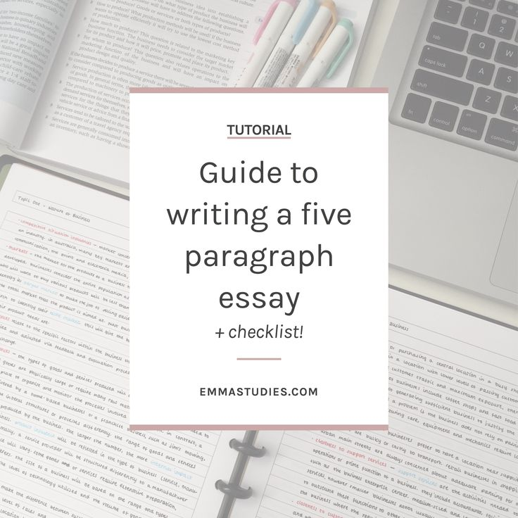 How to write a five paragraph essay for school or university or college
